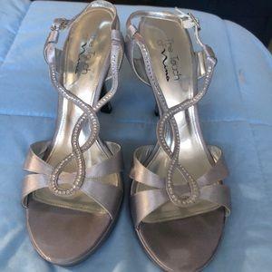 Nina silver high heel shoes
